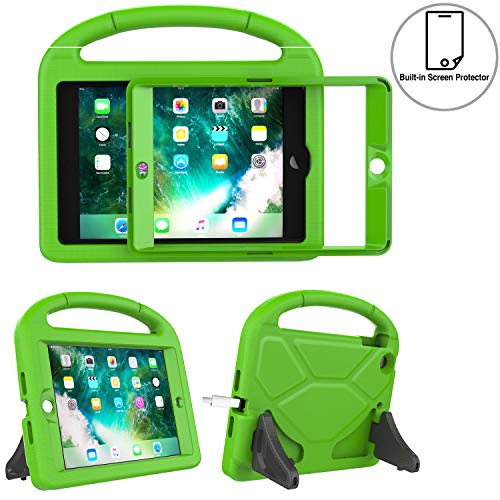 TIRIN Kids Case for iPad Mini 1 2 3 with Built-in Screen Protector, iPad Mini Case-Shockproof Lightweight Hard Cover Handle Stand Kids Case for iPad Mini 1st 2nd 3rd Generation Tablet - Green