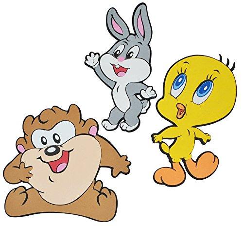 Unbekannt 3 TLG. Set: 3-D Wandtattoo / Wandbild / Türschild - Baby Looney Tunes Tweety aus Moosgummi - Bugs Bunny Taz Wandsticker Wanddeko für Kinderzimmer Kind Kinder .. -