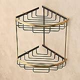 Mensola d'oro Antico Bagno Cesto Cestino Accessori Bagno in Rame (Solo Cestino Triangolare)