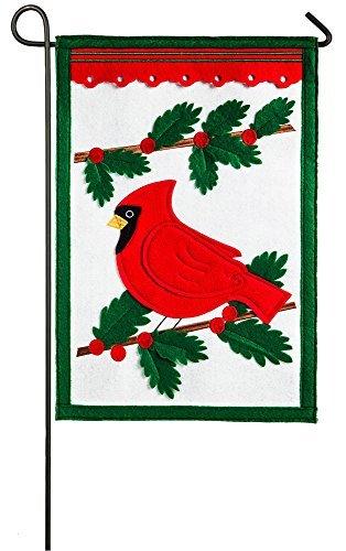 Evergreen feltro Winter Cardinal Garden Flag, 31,8x 45,7cm