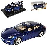 Maisto Porsche Panamera Turbo Blau Ab 2009 1/18 Modell Auto mit individiuellem Wunschkennzeichen