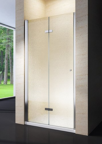 Porta doccia soffietto libro in cristallo 6 opaco e alluminio cromo lucido h.190 CLIO