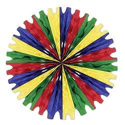 Beistle 55293-GRBCN 12-Piece Tissue Fans, 25-Inch