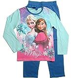 Frozen - Die Eiskönigin Mädchen Schlafanzug ELSA Pyjama (Blau, 98-104)