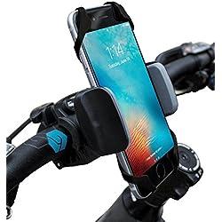 widras Fahrrad- und Motorrad Handy Halterung–für iPhone 6, 5, 6S Plus, Samsung Galaxy Note oder jedem Smartphone & GPS–Universal Mountain & Road Fahrrad Lenker Halterung für Pokemon Go, damen unisex Mädchen Herren Kinder, grau