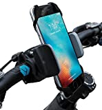 Widras Bike and Motorcycle Cell Phone Mount - For iPhone 6 ,5, 6s Plus, Samsung Galaxy Note or any Smartphone & GPS - Universal Mountain & Road Bicycle Handlebar Cradle Holder for Pokemon Go (Gray)