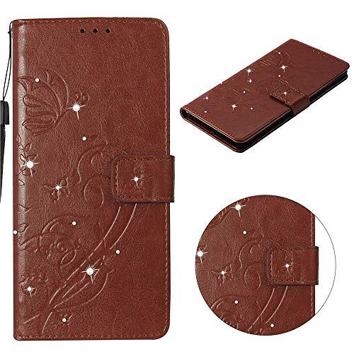 BBBCO Premium Geprägte PU-Lederhülle für LG G7 / G7 ThinQ, Crystal [Hinweis Taschen] [Kartensteckplätze] [Handschlaufe] (Farbe : G, Größe : 15.7 * 8.2 * 1.8cm) (Lg G 2 Abdeckungen)