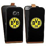 DeinDesign Samsung Galaxy S6 Tasche braun Hülle Flip Case karamell BVB Logo Borussia Dortmund