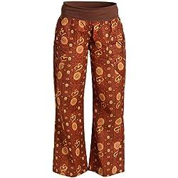 ufash Pantalones de Yoga de algodón, Ropa Deportiva para Hombres, con Cinturilla elástica, L/XL, Om