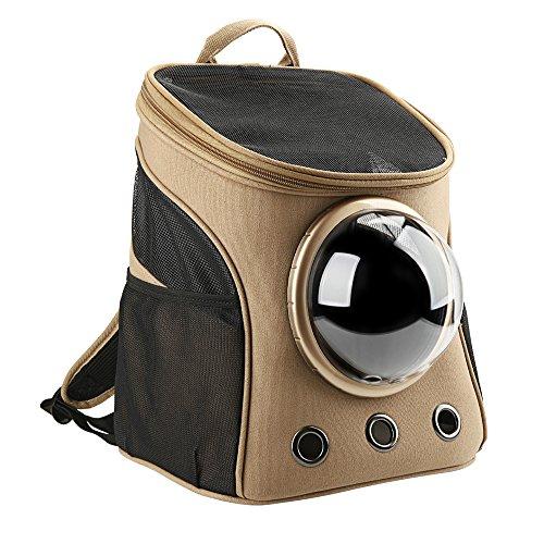 Texsens, zaino per trasportare gli animali domestici, in tela, con capsula trasparente e traspirante, per uscire o per i viaggi