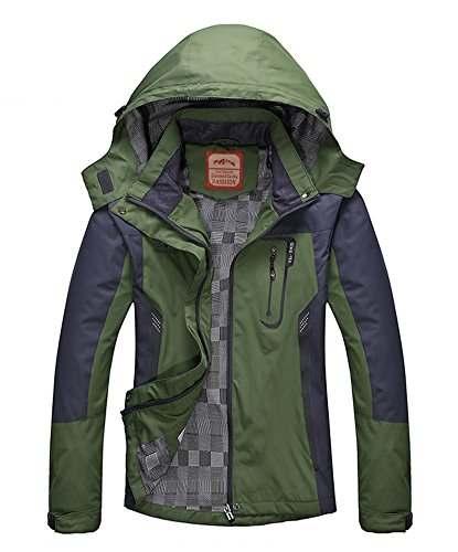 Wasserdichte Outdoorjacke Damen Atmungsaktiv - Diamond Candy Hoodie Funktionsjacke Winddichte Regenjacke für Hiking Camping (Absolute Outdoor-jacke)