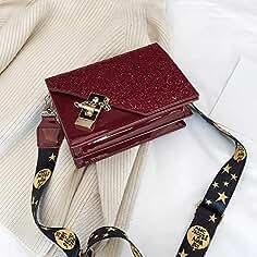 6a88a13bb0827 XMY Kleine Tasche weibliche wild Messenger Tasche Lackleder Schultertasche  Mode kleine quadratische Tasche