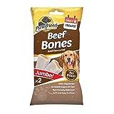Jazooli Dog Puppy Pet Soft Treats Training Snack Food Bones Chews Healthy Dental Sticks - Beef Bones 200g