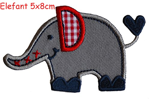 2-iron-on-patches-set-elephant-5x8-and-crocodile-9x3-embroidery-fabric-appliques-by-trickyboo-design