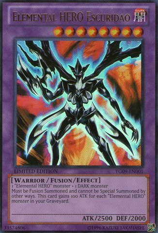 Yu-Gi-Oh! - Elemental HERO Escuridao (YG09-EN001) - GX Manga Promos Series 9 - Limited Edition - Ultra Rare by Yu-Gi-Oh!