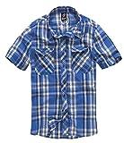 Brandit Roadstar Hemd blau/weiß XXL