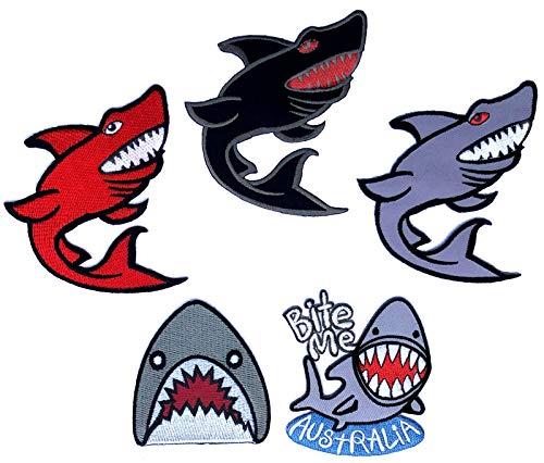 Delfine Erwachsenen T-shirt (i-Patch - Patches - 0188 - Hai - Fisch - Wal - Delfin - Meer - Raubfisch - Meeres-Tiere - Aquarium - Zoo - Applikation - Aufbügler - Flicken - Aufnäher - Sticker - Badges - Bügelbild)