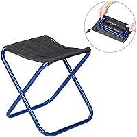 Taburete de camping XGZ, silla slacker ultraligera de aleación de aluminio plegable, taburete de acampada, portátil, ligero, para barbacoa, para actividades al aire libre, pesca, camping, senderismo, picnic, azul