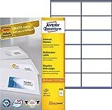 Avery Zweckform 3424 Universal-Etiketten (A4, Papier matt, 1,200 Etiketten, 105 x 48 mm) 100 Blatt weiß