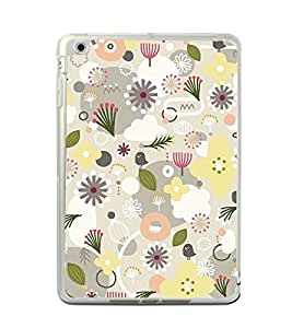 Fuson Flower Pond Pink Designer Back Case Cover for Apple iPad Mini 4 :: Apple iPad Mini 4 Wi-Fi + Cellular (3G/LTE); Apple iPad Mini 4 Wi-Fi (Wi-Fi, W/o GPS) (Ethnic Pattern Patterns Floral Decorative Abstact Love Lovely Beauty)