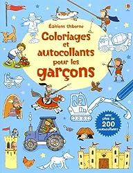 COLORIAGES AUTOCOL POUR GARCON