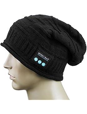 Demiawaking Auricolare Bluetooth Wireless Cappello Musicale Sportivo Smart Cuffie Caldo Berretto Invernale da...
