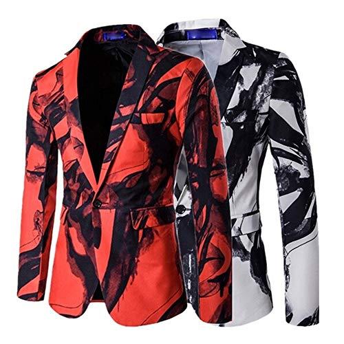 Qinsling Giacche da Abito Elegante Vestito da Uomo Slim Fit Giacca Cappotto  Blazer in Paillettes Uomo Tuta Moda Uomo Giacca Costume Festivo Vestito da  Festa ... 465fed89c75