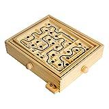 Larcele Holz Labyrinth Balance Training Brettspiel GZMG-01