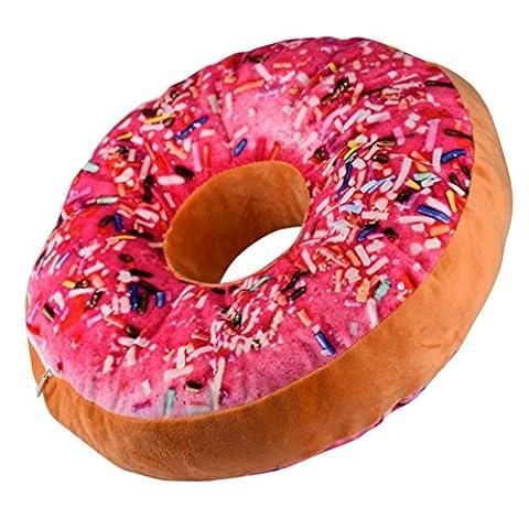 decorie New Design Ring Donut Form weicher Plüsch neuheit Überwurf Kissen, hot pink, Einheitsgröße
