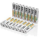 EBL 16pcs Piles AAA Rechargeables 1100mAh Ni-Mh Batterie, Haute Capacité et Longue Durée