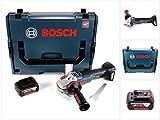 Bosch GWS 18 V-125 SC Professional Akku Winkelschleifer 125mm brushless in L-Boxx mit 1x GBA 6,0 Ah Akku