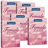 Femidom, 6x3 female condoms