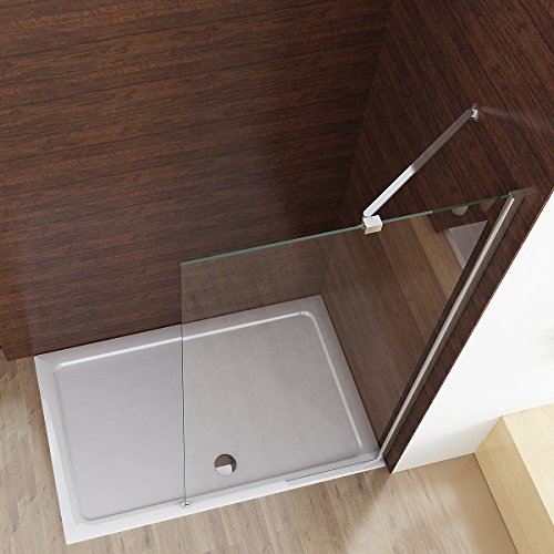 Walk in Dusche Duschabtrennung Duschwand Seitenwand Duschtrennwand 75 x 195 cm