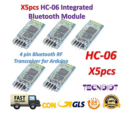TECNOIOT 5pcs HC-06 Arduino HC06 Wireless Bluetooth