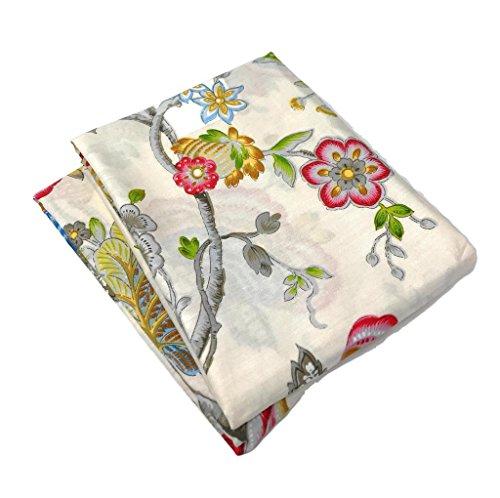 Tache 2Stück Baumwolle Leise Morning Garden Bright Floral Creme Kissenbezüge Kissenbezüge Set -