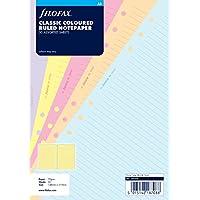 Filofax 340508 - Recambio de hojas para archivador ( 30 hojas tamaño A5, a rayas), varios colores