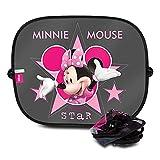 Disney Minnie MINNIE101 Auto-Sonnen-Schutz und Sonnen-Blende für Baby und Kinder, 2 Stück