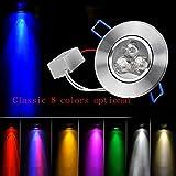 QQYL Lampada Notturna Plafoniera a LED a LED Faretto a parete 3W Luce da parete per sala da pranzo Armadio per vino Cat Eye Downlight a soffitto 2pz , 3