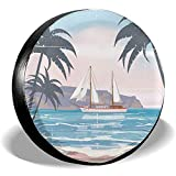 Copertura per Ruota di scorta Coperture per Ruote per Barche a Vela per Alberi di Palma Protezioni per Pneumatici universali [16 Pollici]