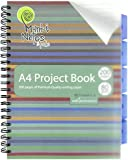 MUNKI NOTES A4 80 gsm 200 Pages Lines Design Wire Bound Project Book with 5 PP Divider
