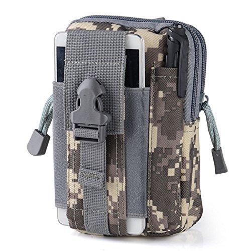 Wear-Resisting Taktisch Tasche - WinCret Außen Sport Leichtbau mit Hoher Kapazität Wasserdicht Nylon Molle Reißverschluss-Pack Utility Taille Tasche für Kleine Gegenstände Camouflage-5