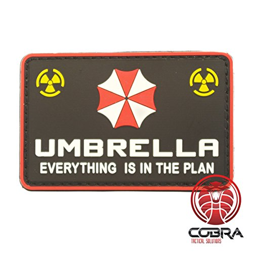 Cobra Tactical Solutions Umbrella Corporation Logo - Everything is in The Plan - Resident Evil 3D PVC Patch Hook & Loop Airsoft Cobra Tactical Solutions