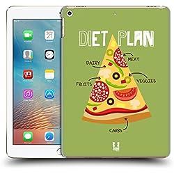 Head Case Designs Diät-Plan Pizza Liebhaber Ruckseite Hülle für Apple iPad 9.7 (2017)