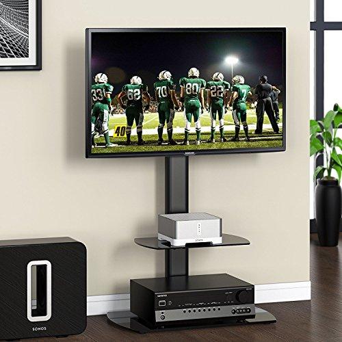 FITUEYES Giratorio Soporte de Suelo Base con Estante para TV LCD LED 32-50 Pulgadas TT206501GB