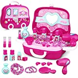 ANNA SHOP Schminkset Mädchen Schminke Lippenstift Kindertags Geschenke Spielzeug Schminkset Kinder ab 3+ Jahre