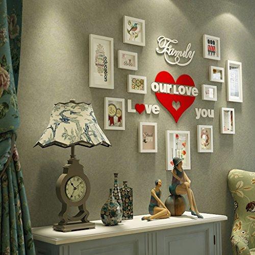 Caoyu,photo wall europeo parete foto in legno parete minimalista moderna camera da letto photo frame parete a parete europea creativa photo frame (colore : a)