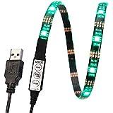 Kohree® Rétro-éclairage à LED pour TV Ruban LED USB - 27 LED Bande LED RGB