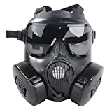 Fansport Airsoft Mask Paintball Protective Mask Full Face Mask Goggles Set
