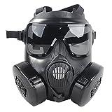 Fancymall-Mask M50 Masque de paintball Style masque à gaz noir Noir 22.5*17.5cm