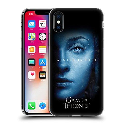 Officiel HBO Game Of Thrones Daenerys Targaryen Winter Is Here Étui Coque en Gel molle pour Apple iPhone 6 / 6s Sansa Stark